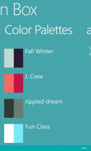 news became Color palettes